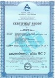 Certifikát shody DPB2 2017